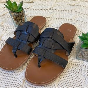 Franco Sarto Marlis Woven Leather Thong Sandals